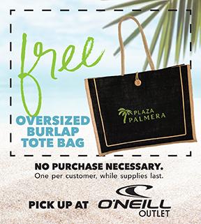 Coupon: Free Oversized Burlap Tote Bag